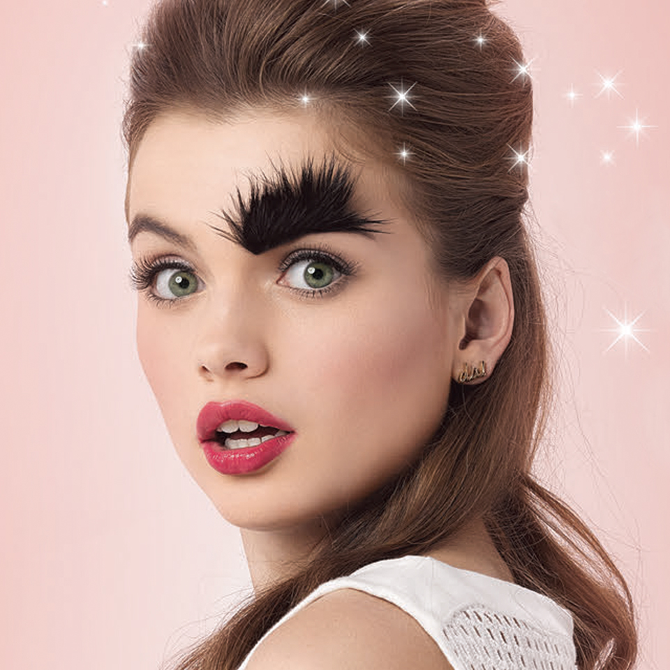 Benefit thick eyebrow model