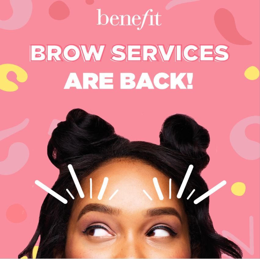 Benefit Eyebrow Wax And Tint Services Are Back!
