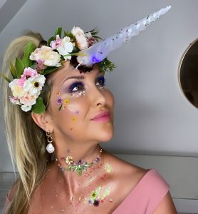 scary unicorn halloween makeup look