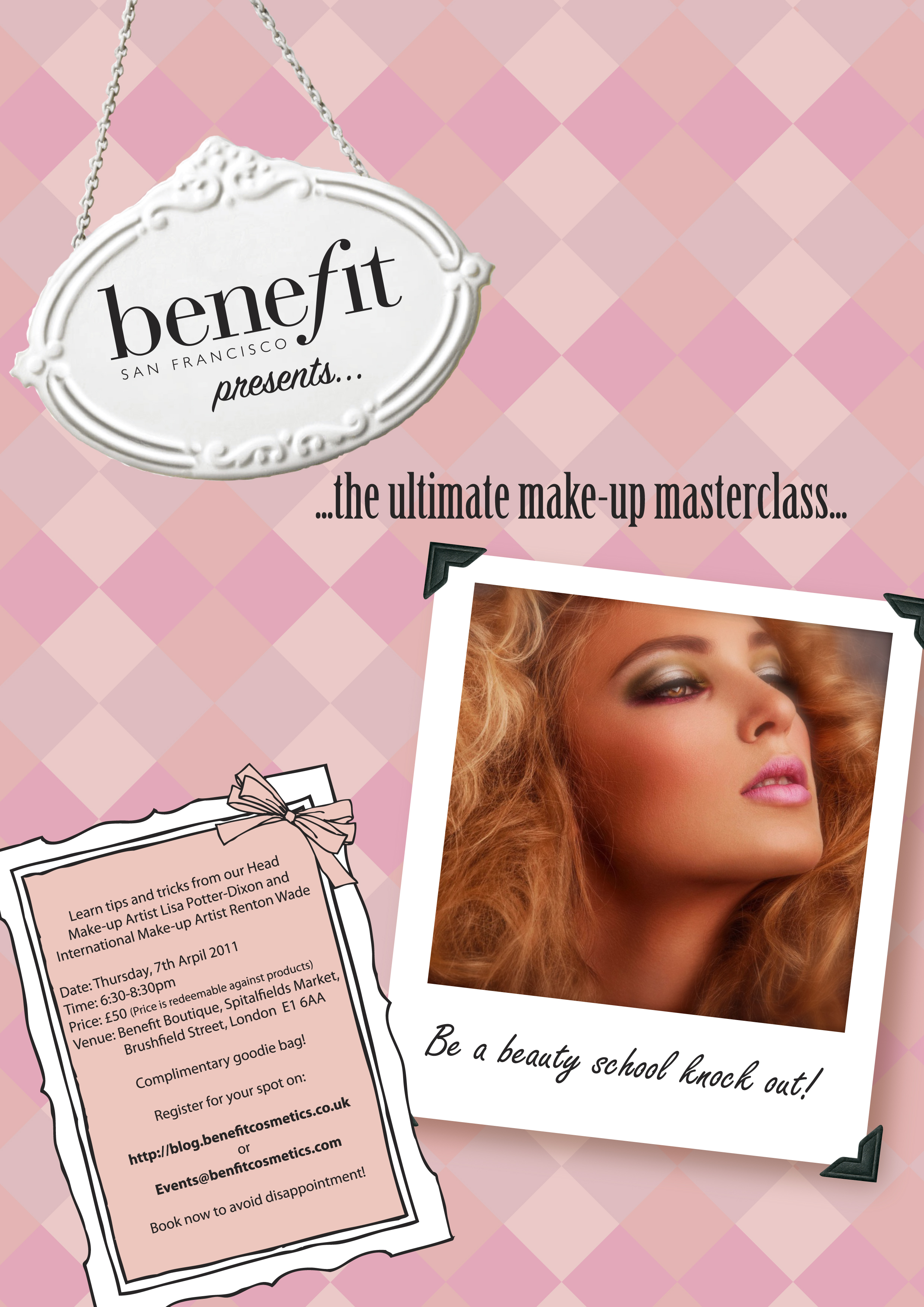 SIGNUP: Get Personal! Masterclass with the Benefit ProfessionalsThur