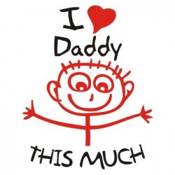I love my daddy this much