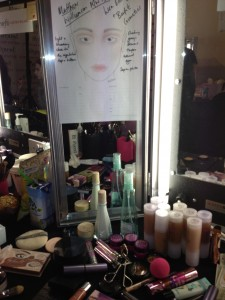 The Benefit Cosmetics makeup guide backstage at London Fashion Week AW13