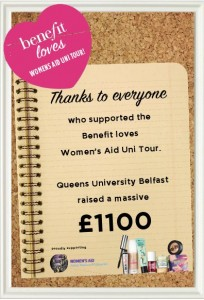The Belfast Benebabes braved the rain to raise an outstanding £1100 for Women's Aid! xx