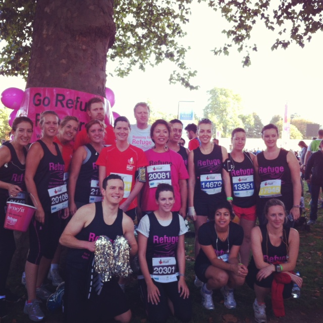 Royal Parks Half Marathon team running for Refuge Charity