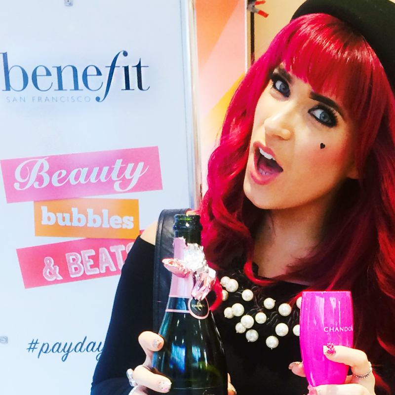 Pink hair at Benefit event- Beauty Bubbles and Beats