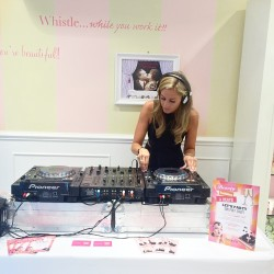 DJ Sophie Bond, performing at Benefit Cosmetics every month for Beauty, Bubbles and Beats!